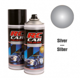 SPRAY RC CAR PLATA METALIZADO