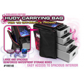 HUDY 1/8 OFF-ROAD & TRUGGY CARRYING BAG + TOOL BAG