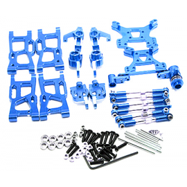 KIT UPGRADE ALUMINIO WLTOYS 144001 AZUL