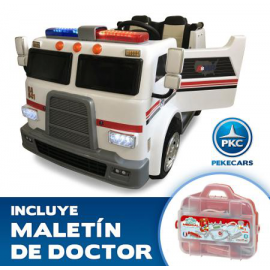 AMBULANCIA INFANTIL 2 PLAZAS 12V 2.4G + MALETIN DO